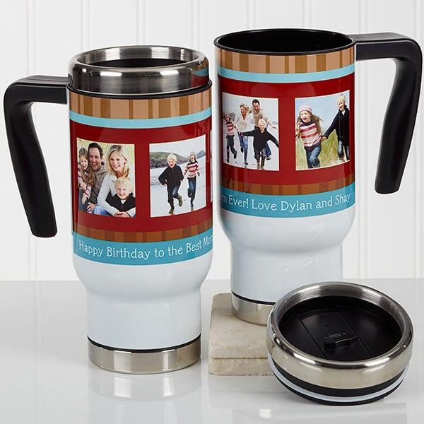 Personalized Commuter Photo Travel Mug - Photo Message - 17130