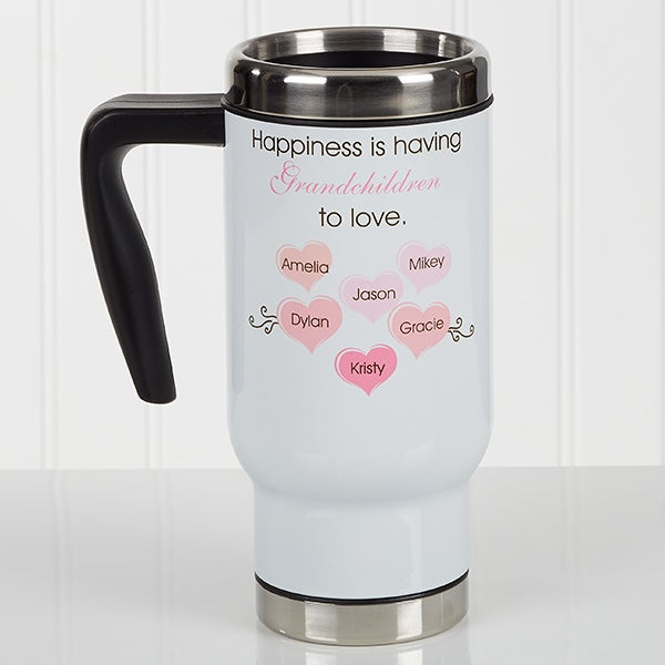 Personalized Commuter Travel Mug - What Is Happiness? - 17135
