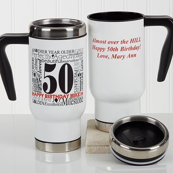 Personalized Birthday Commuter Travel Mug - Another Year Has Gone By - 17140
