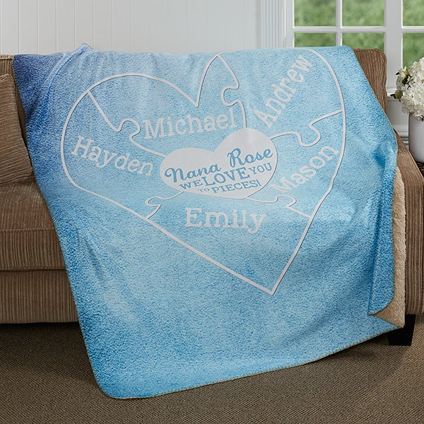 Personalized Premium Sherpa Blanket - We Love You To Pieces - 17143