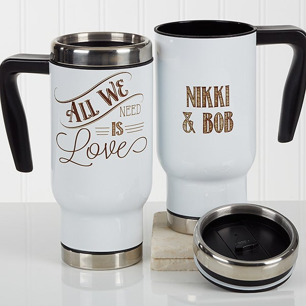 Personalized Travel Mugs - Love Quotes - 17162