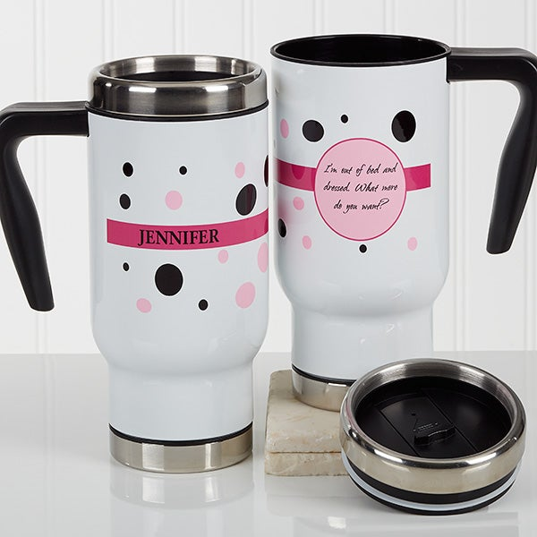 Personalized Birthday Commuter Travel Mug - Sweet & Sassy - 17177