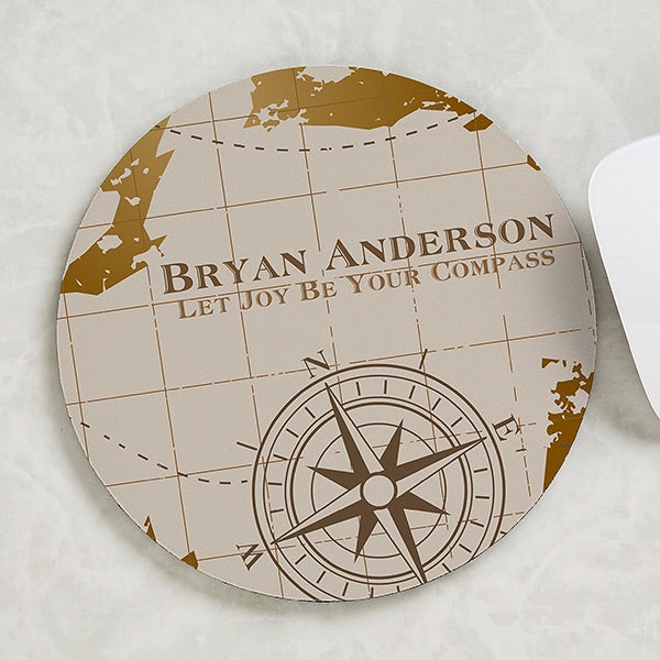 Personalized Mouse Pad - Compass Inspired - 17181