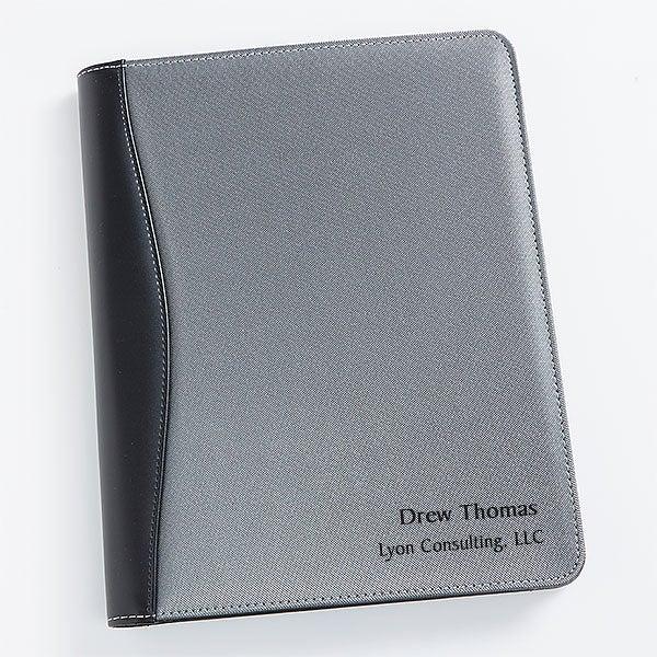 dff9bb4179e0 Personalized Silver   Black Portfolio - Signature Style - 17187
