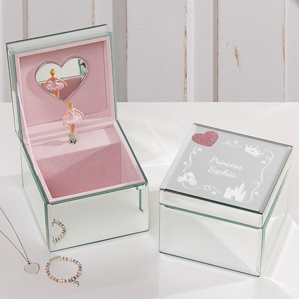 Princess Personalized Mirrored Ballerina Musical Jewelry Box