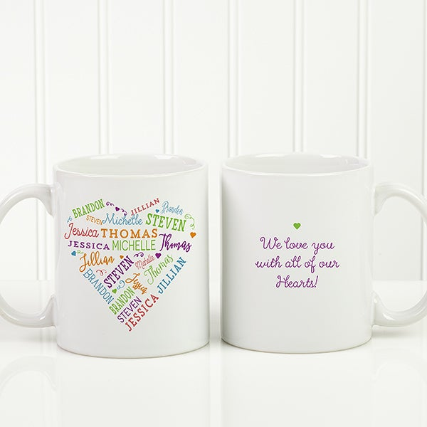 close to her heart personalized coffee mug