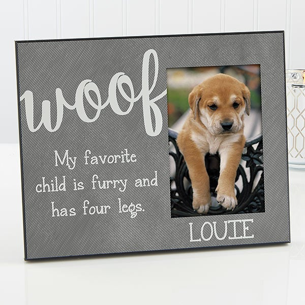 Personalized Pet Picture Frames - Woof & Meow - 17202