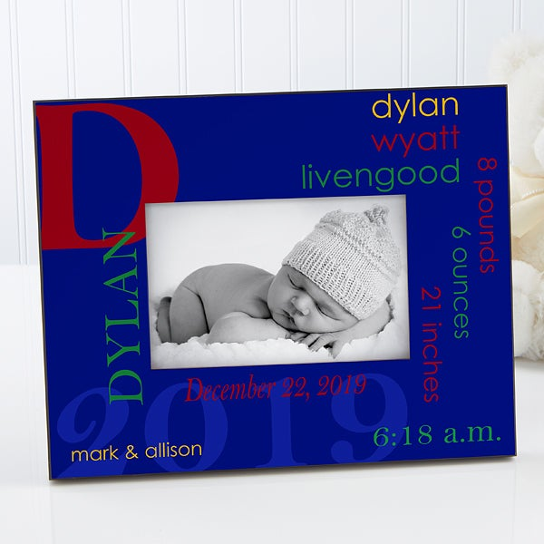 Personalized Baby Boy Picture Frame - All About Baby  - 17204