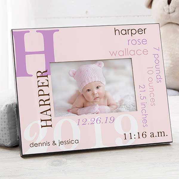 3606fef185c All About Baby For Her Personalized Picture Frame
