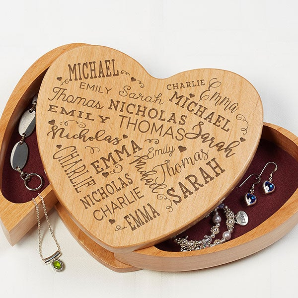 Engraved Jewelry Box - Close To Her Heart - 17229