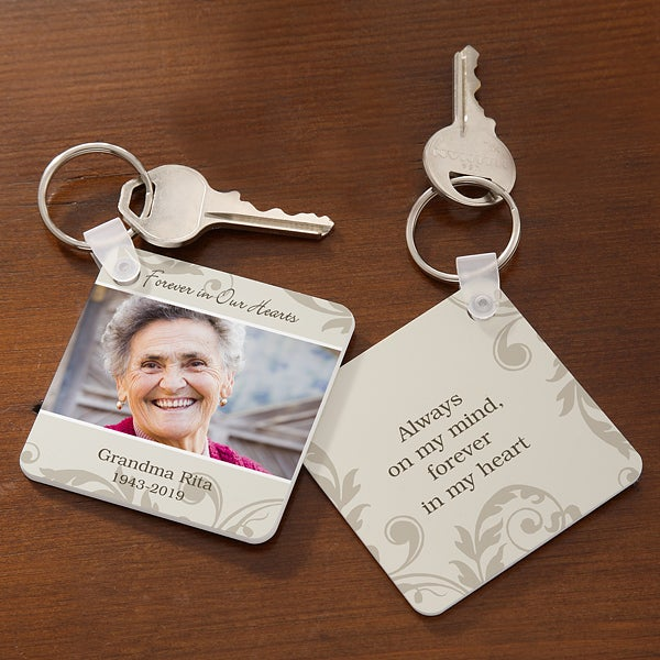 Personalized Photo Keyring - In Loving Memory - 17239