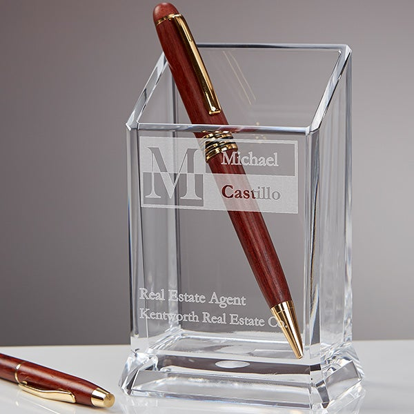 Personalized Office Pen & Pencil Holder - Sophisticated Style - 17244