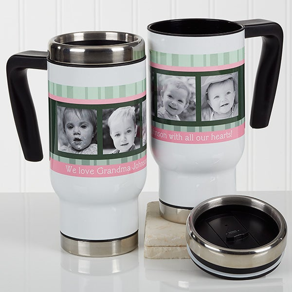 Personalized Photo Commuter Travel Mug - Photo Message To Her - 17263