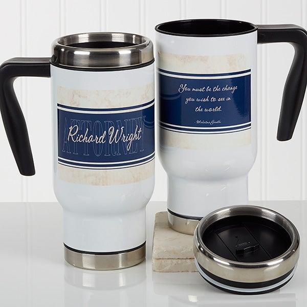 Personalized Lawyer Commuter Travel Mug - Inspiring Lawyer - 17270
