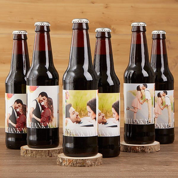 Personalized Photo Wedding Beer Bottle Labels Carrier 17297