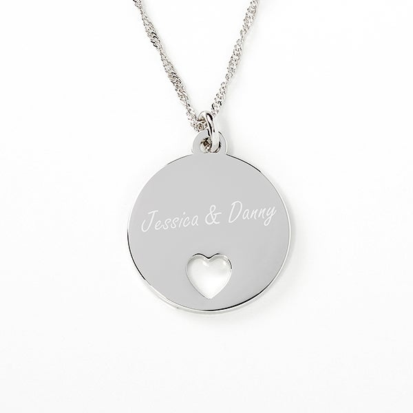 Personalized Piece of My Heart Pendant Necklace - 17302