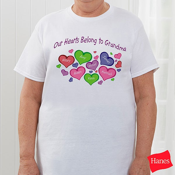 Personalized Grandparent Apparel - My Heart Belongs To - 17306