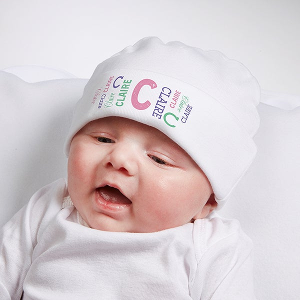 Personalized Repeating Name Baby Infant Hat - Kids Gifts 033788acb505