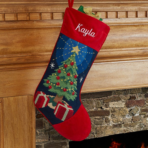 Personalized Needlepoint Christmas Stockings - Winter Charm - 17317