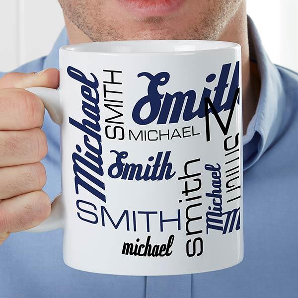 ae59499f565 Signature Style For Him Personalized 30oz. Oversized Coffee Mug