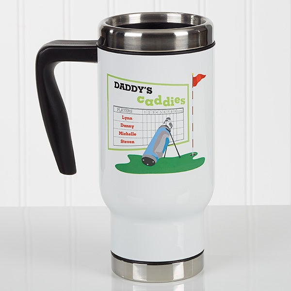 Personalized Golf Commuter Travel Mug - His Favorite Caddies - 17348