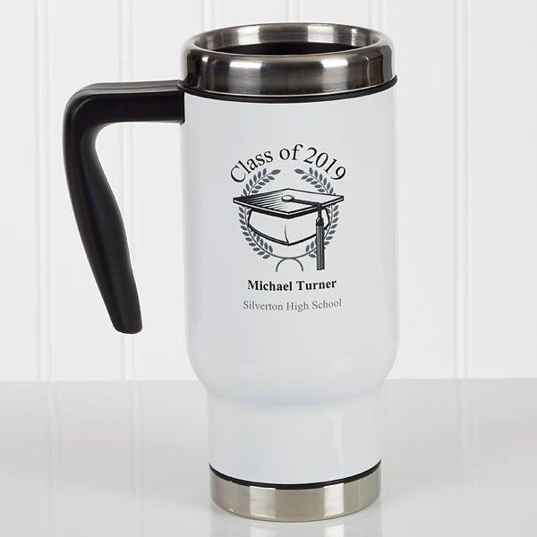 Personalized Commuter Travel Mug - Graduation Cap - 17352