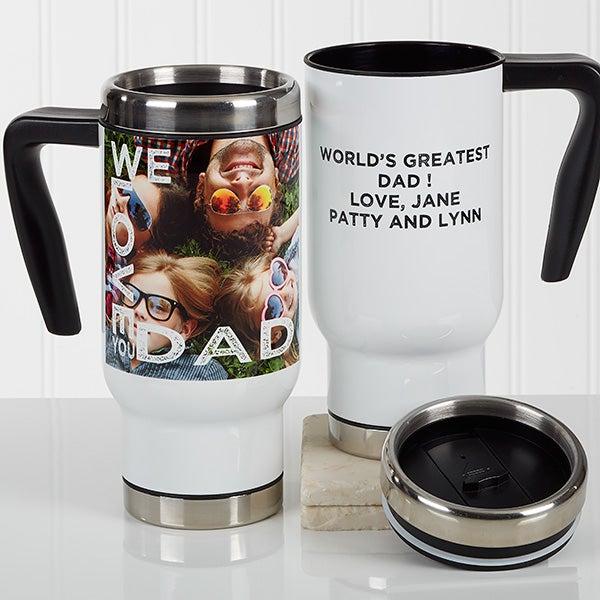 Personalized Photo Commuter Travel Mug - Loving Them - 17354