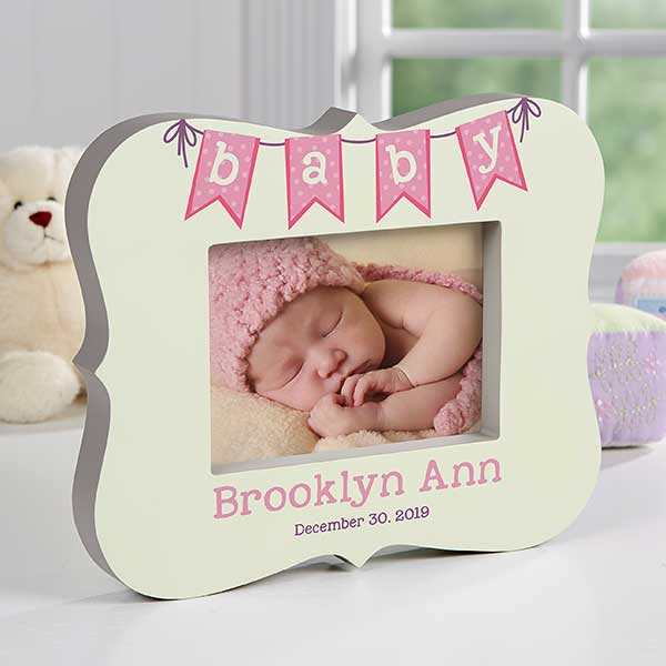Personalized 5x7 Baby Frame Block - Baby Banner - 17365