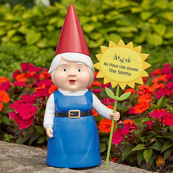 Personalized Female Garden Gnome - 17369