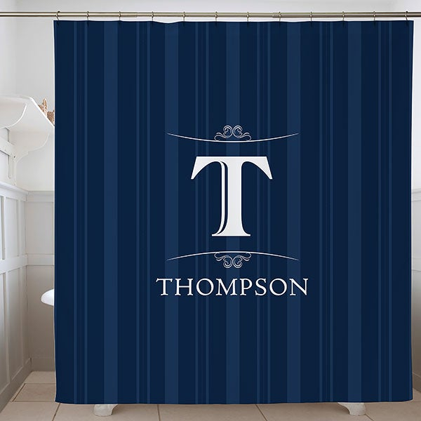 Elegant Monogram Personalized Shower Curtain - 17374
