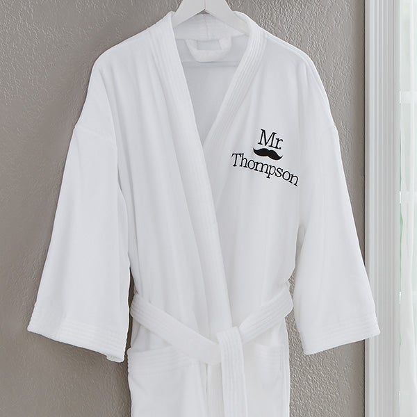 173668bd11 Embroidered Mr Robe - Better Together - Wedding Gifts