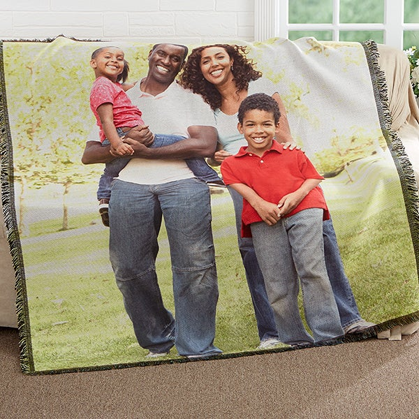 Personalized Family Photo Woven Throw - Picture It! - 17399