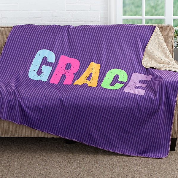 Personalized Sherpa Blanket For Girls - All Mine! - 17408