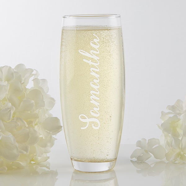 Personalized Stemless Champagne Flute - Signature Toast - 17415