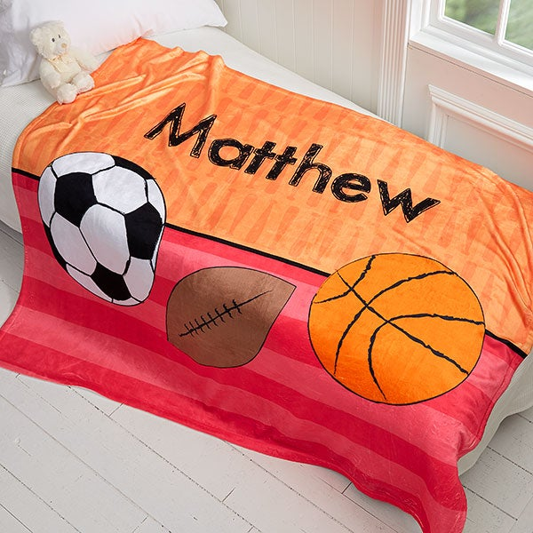 Personalized Kids Blankets for Boys - 17432