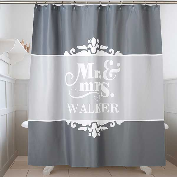 Custom Made Shower Curtains.The Happy Couple Personalized Shower Curtain