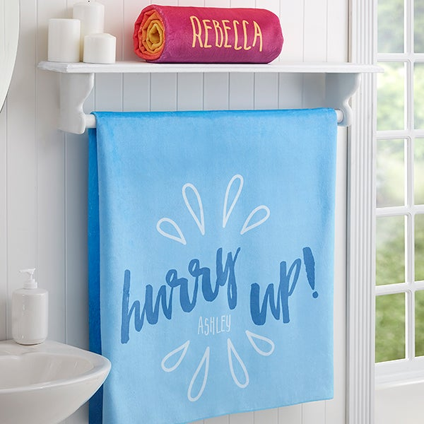 Morning Motivation Personalized Bath Towels - 17472