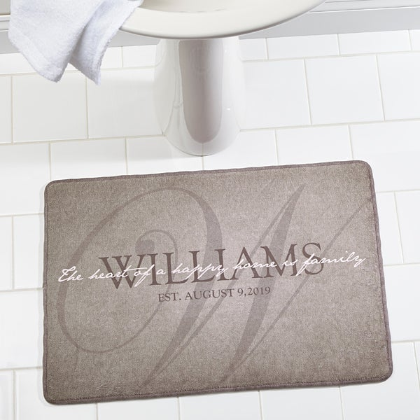 Personalized Family Memory Foam Bath Mat - Heart Of Our Home - 17498