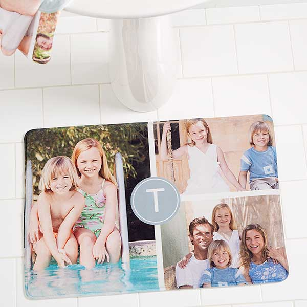Personalized Bath Mats - 3 Photo Collage - 17499