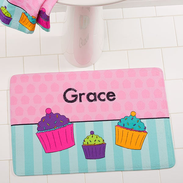 Personalized Kids Bath Mats With Names - For Girls - 17507