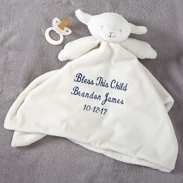 Lovable Lamb Personalized Blankie