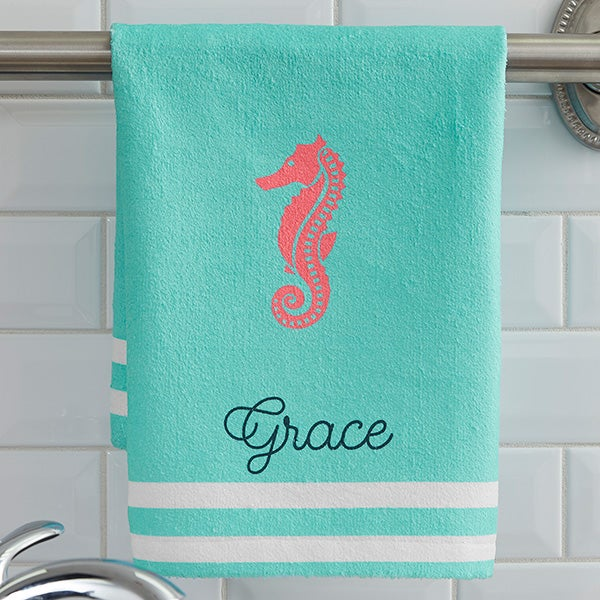 Nautical Flags Bath Towels: Personalized Nautical Hand Towels