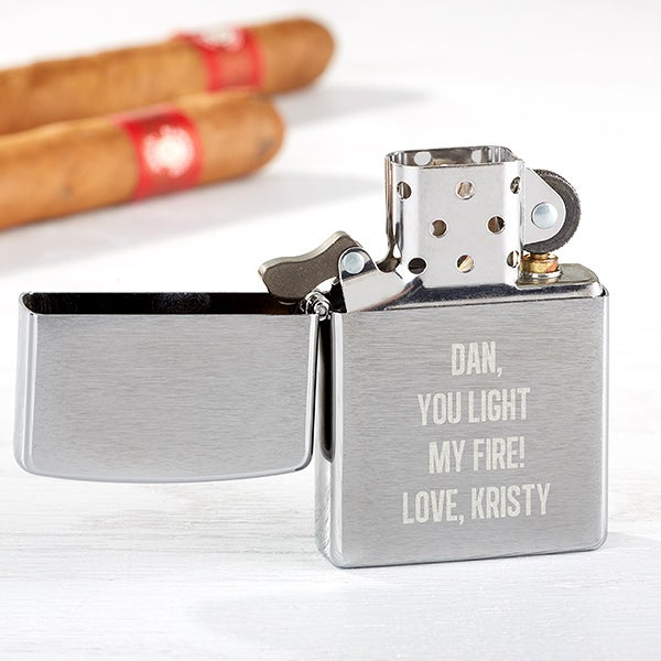 Personalized Zippo Windproof Lighter Write Your Own