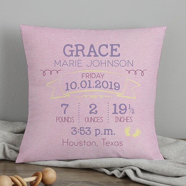 Personalized Birth Announcement Pillows de6dc3f50dfb