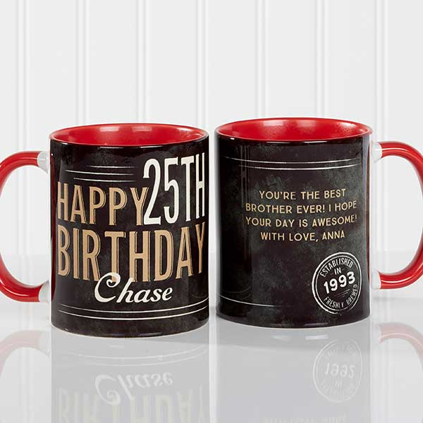Personalized Coffee Mugs - Vintage Birthday - 17555
