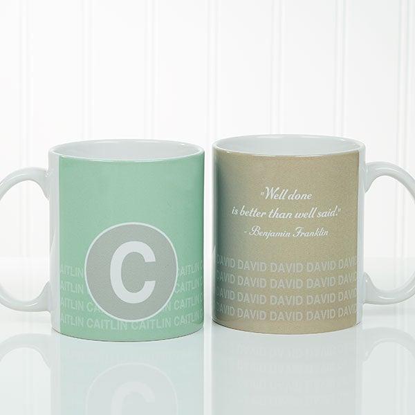 custom quote coffee mugs