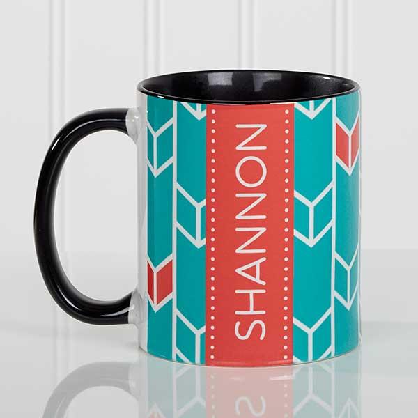 Personalized Coffee Mugs - Geometric Designs - 17560