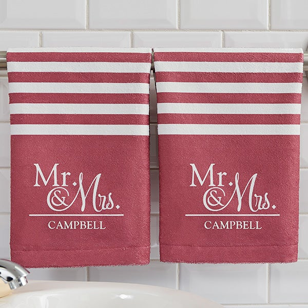 Personalized Wedding Hand Towels - 17571