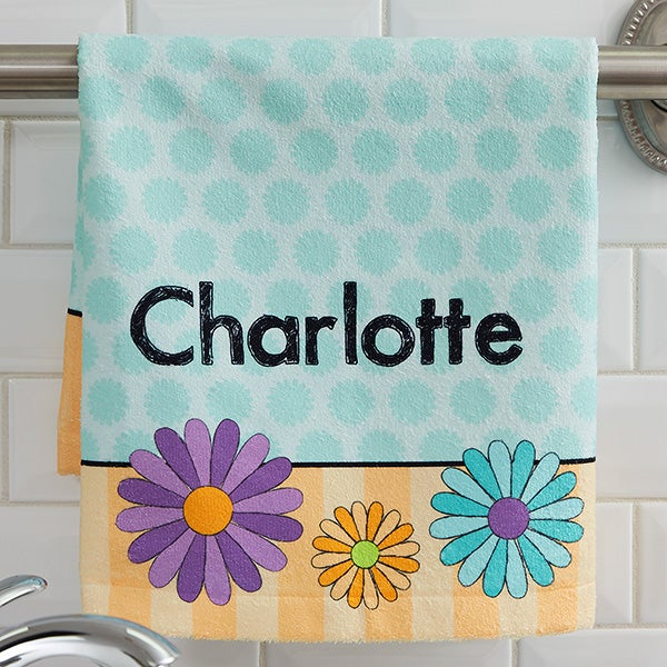 Personalized Kids Hand Towels With Names - For Girls - 17575