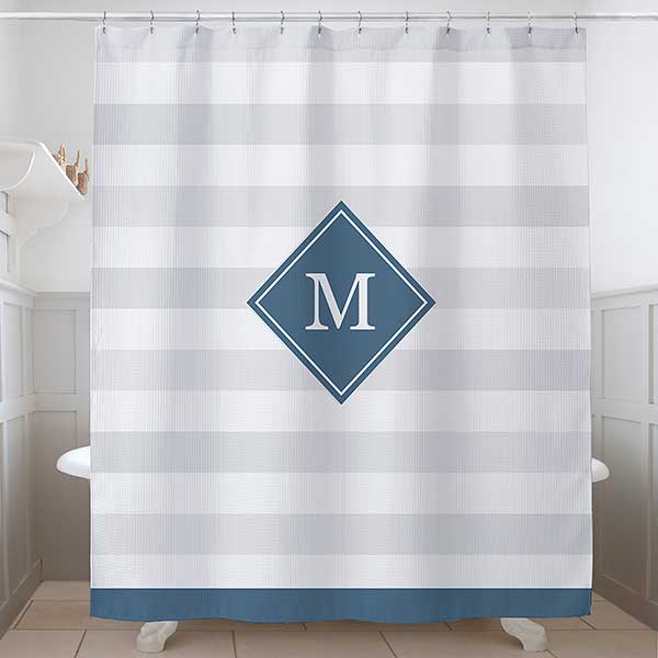classic initial personalized shower curtain